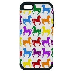 Colorful Horse Background Wallpaper Apple Iphone 5 Hardshell Case (pc+silicone)