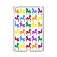 Colorful Horse Background Wallpaper Ipad Mini 2 Enamel Coated Cases