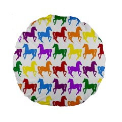 Colorful Horse Background Wallpaper Standard 15  Premium Round Cushions