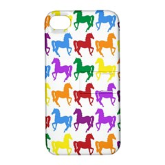 Colorful Horse Background Wallpaper Apple iPhone 4/4S Hardshell Case with Stand