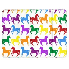 Colorful Horse Background Wallpaper Samsung Galaxy Tab 7  P1000 Flip Case