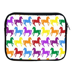 Colorful Horse Background Wallpaper Apple Ipad 2/3/4 Zipper Cases