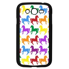 Colorful Horse Background Wallpaper Samsung Galaxy Grand Duos I9082 Case (black)