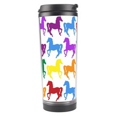 Colorful Horse Background Wallpaper Travel Tumbler