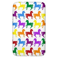 Colorful Horse Background Wallpaper Samsung Galaxy Tab 3 (8 ) T3100 Hardshell Case