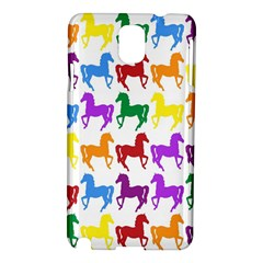 Colorful Horse Background Wallpaper Samsung Galaxy Note 3 N9005 Hardshell Case