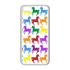 Colorful Horse Background Wallpaper Apple Iphone 5c Seamless Case (white)