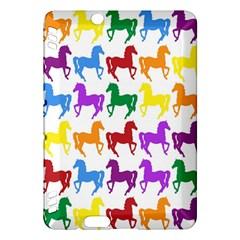 Colorful Horse Background Wallpaper Kindle Fire Hdx Hardshell Case