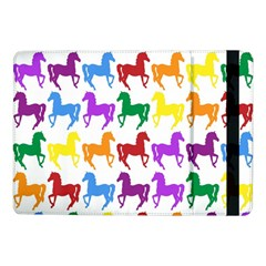 Colorful Horse Background Wallpaper Samsung Galaxy Tab Pro 10.1  Flip Case