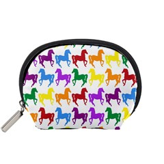 Colorful Horse Background Wallpaper Accessory Pouches (Small)