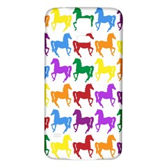 Colorful Horse Background Wallpaper Samsung Galaxy S5 Back Case (White)