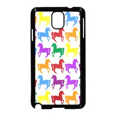 Colorful Horse Background Wallpaper Samsung Galaxy Note 3 Neo Hardshell Case (black)