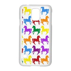 Colorful Horse Background Wallpaper Samsung Galaxy S5 Case (white)