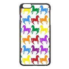 Colorful Horse Background Wallpaper Apple Iphone 6 Plus/6s Plus Black Enamel Case