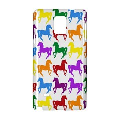 Colorful Horse Background Wallpaper Samsung Galaxy Note 4 Hardshell Case