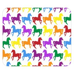 Colorful Horse Background Wallpaper Double Sided Flano Blanket (small)