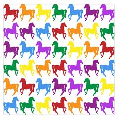 Colorful Horse Background Wallpaper Large Satin Scarf (square)