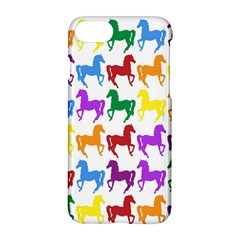 Colorful Horse Background Wallpaper Apple Iphone 7 Hardshell Case
