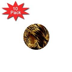 Stripes Tiger Pattern Safari Animal Print 1  Mini Buttons (10 Pack)