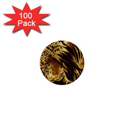 Stripes Tiger Pattern Safari Animal Print 1  Mini Buttons (100 Pack)