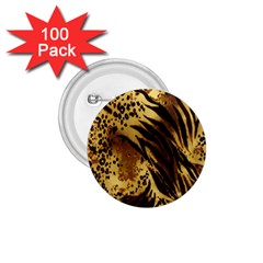 Stripes Tiger Pattern Safari Animal Print 1 75  Buttons (100 Pack)