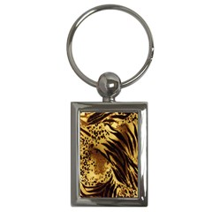 Stripes Tiger Pattern Safari Animal Print Key Chains (rectangle)