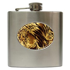 Stripes Tiger Pattern Safari Animal Print Hip Flask (6 Oz)