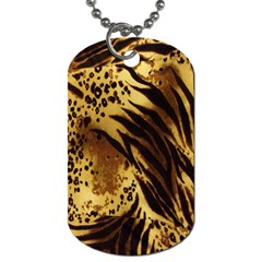 Stripes Tiger Pattern Safari Animal Print Dog Tag (two Sides)