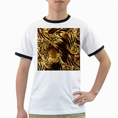 Stripes Tiger Pattern Safari Animal Print Ringer T Shirts