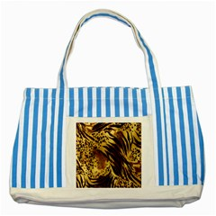 Stripes Tiger Pattern Safari Animal Print Striped Blue Tote Bag