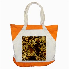 Stripes Tiger Pattern Safari Animal Print Accent Tote Bag