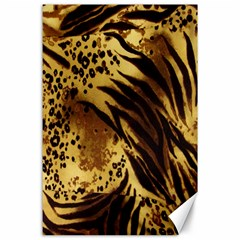 Stripes Tiger Pattern Safari Animal Print Canvas 24  X 36