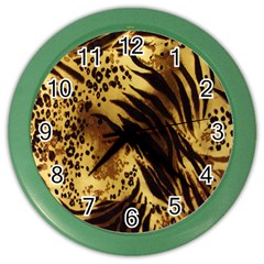 Stripes Tiger Pattern Safari Animal Print Color Wall Clocks