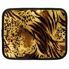 Stripes Tiger Pattern Safari Animal Print Netbook Case (Large)