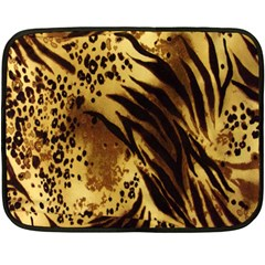 Stripes Tiger Pattern Safari Animal Print Fleece Blanket (mini)