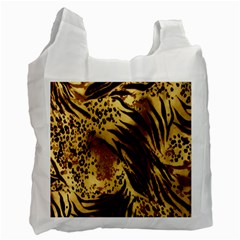 Stripes Tiger Pattern Safari Animal Print Recycle Bag (two Side)
