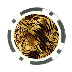 Stripes Tiger Pattern Safari Animal Print Poker Chip Card Guard (10 Pack)