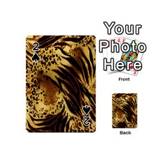 Stripes Tiger Pattern Safari Animal Print Playing Cards 54 (mini)