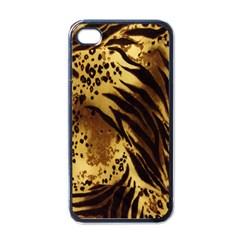 Stripes Tiger Pattern Safari Animal Print Apple Iphone 4 Case (black)