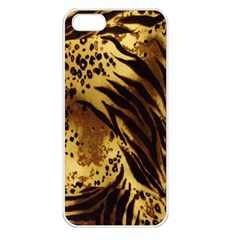 Stripes Tiger Pattern Safari Animal Print Apple Iphone 5 Seamless Case (white)