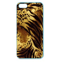 Stripes Tiger Pattern Safari Animal Print Apple Seamless Iphone 5 Case (color)