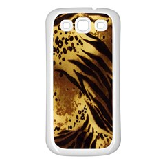Stripes Tiger Pattern Safari Animal Print Samsung Galaxy S3 Back Case (white)