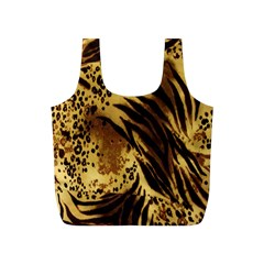 Stripes Tiger Pattern Safari Animal Print Full Print Recycle Bags (s)