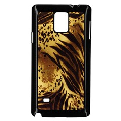 Stripes Tiger Pattern Safari Animal Print Samsung Galaxy Note 4 Case (black)