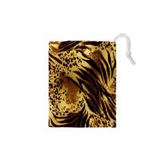 Stripes Tiger Pattern Safari Animal Print Drawstring Pouches (xs)
