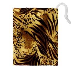 Stripes Tiger Pattern Safari Animal Print Drawstring Pouches (xxl)