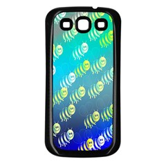 Animal Nature Cartoon Wild Wildlife Wild Life Samsung Galaxy S3 Back Case (black)