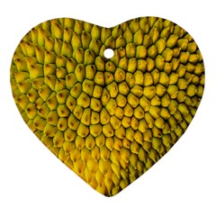 Jack Shell Jack Fruit Close Heart Ornament (two Sides)