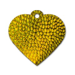 Jack Shell Jack Fruit Close Dog Tag Heart (two Sides)