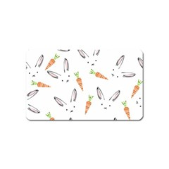 Rabbit Carrot Pattern Weft Step Magnet (name Card)